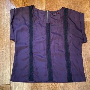 Purple lace detail top